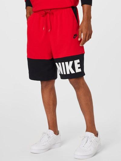 Nike Sportswear Nohavice - červená / čierna / biela, Model/-ka