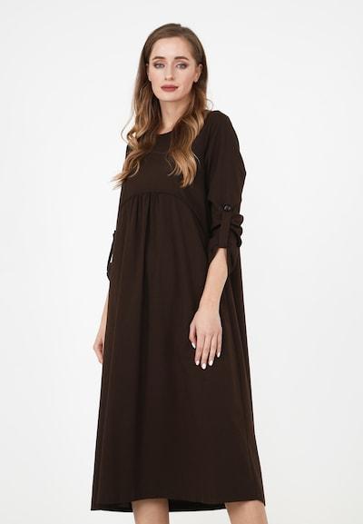 Madam-T Kleid in braun, Modelansicht