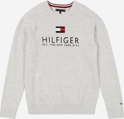 TOMMY HILFIGER Svetr - námořnická modř / šedá / červená / bílá, Produkt