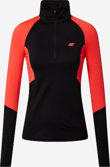 4F Functioneel shirt in de kleur Neonrood / Zwart, Productweergave