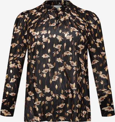 KAFFE CURVE Bluse 'Fiona' in hellbraun / gold / schwarz, Produktansicht