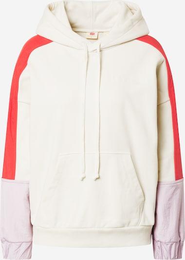 LEVI'S Sweatshirt in de kleur Crème / Rood, Productweergave