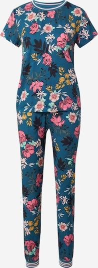 ESOTIQ Pyjama 'DELIGHT' en bleu ciel / mélange de couleurs, Vue avec produit