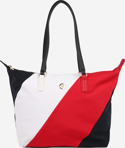 TOMMY HILFIGER Shopper 'POPPY' in de kleur Donkerblauw / Vuurrood / Wit, Productweergave