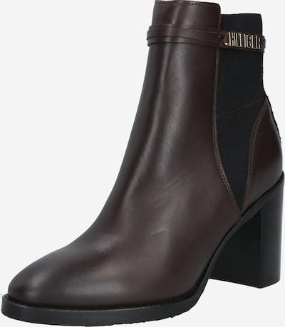 TOMMY HILFIGER Ankelstøvler i mørkebrun, Produktvisning