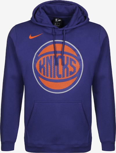 NIKE Sportsweatshirt 'New York Knicks Club' in de kleur Blauw / Sinaasappel / Wit, Productweergave
