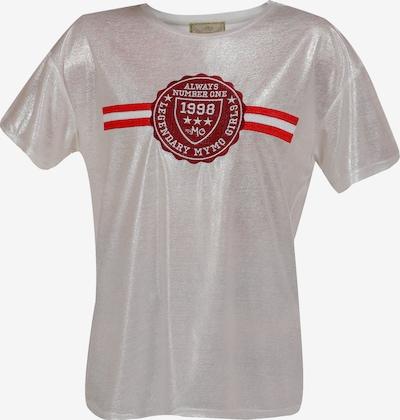 MYMO Shirt in rot / dunkelrot / silber / weiß, Produktansicht