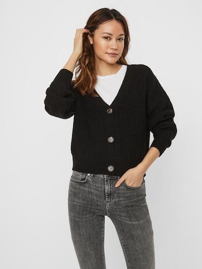 VERO MODA Gebreid vest 'LEA' in de kleur Zwart, Modelweergave