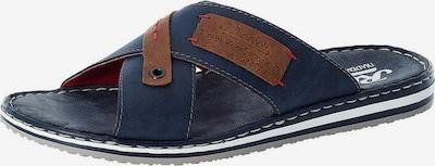 RIEKER Zapatos abiertos en navy / marrón / blanco, Vista del producto