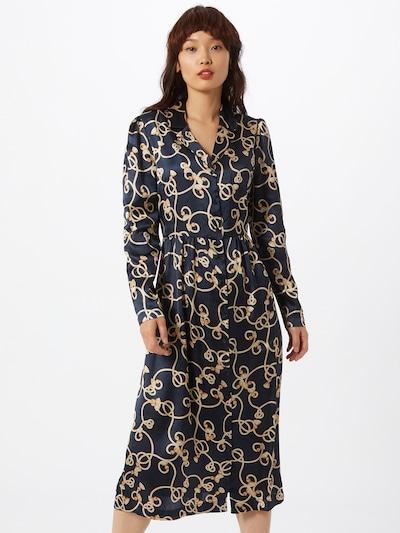 Rochie tip bluză ICHI pe bleumarin / galben, Vizualizare model
