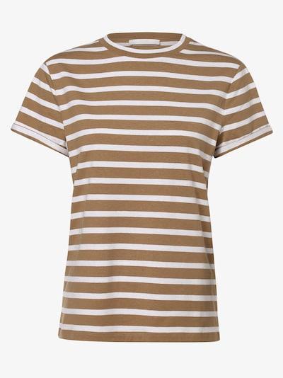 BOSS Casual T-Krekls 'Espring', krāsa - gaiši bēšs / balts, Preces skats