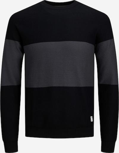 JACK & JONES Trui 'Shawn' in de kleur Basaltgrijs / Zwart, Productweergave