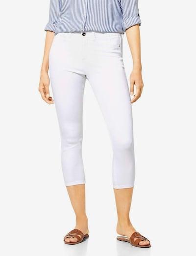 STREET ONE Jeans in de kleur White denim, Modelweergave