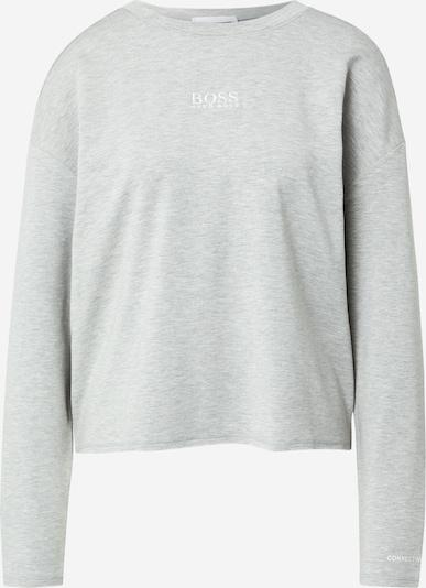 BOSS Majica 'Elina' | pegasto siva / bela barva, Prikaz izdelka