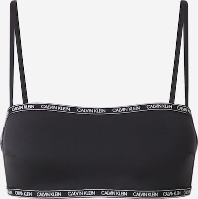 Calvin Klein Swimwear Bikini top in Black / White, Item view