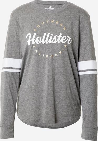 HOLLISTER Тениска в сиво / бяло, Преглед на продукта