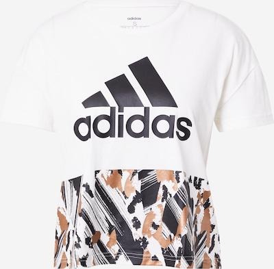 ADIDAS PERFORMANCE Funkčné tričko - hnedá / čierna / biela, Produkt