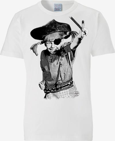 LOGOSHIRT T-Shirt 'Pippi Langstrumpf – Pirat' in weiß, Produktansicht