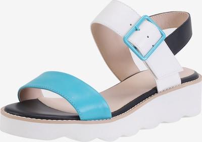 Ekonika Sandale in hellblau / schwarz / weiß, Produktansicht