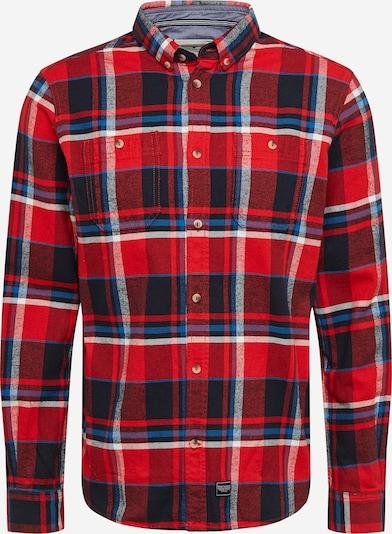 TOM TAILOR Hemd in blau / dunkelblau / rot / dunkelrot / weiß, Produktansicht