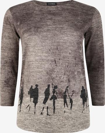 Doris Streich Pullover mit Print in Grau