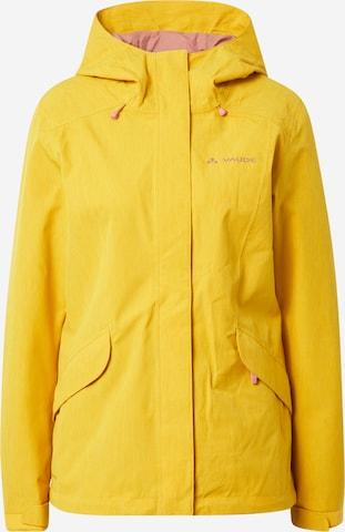 VAUDE Outdoor Jacket 'Rosemoor' in Yellow