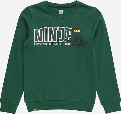 LEGO WEAR Sweatshirt in de kleur Donkergroen / Zwart / Wit, Productweergave
