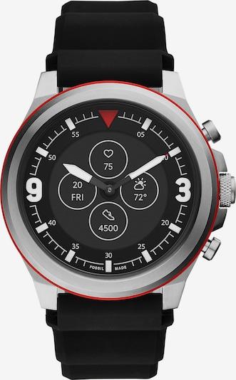 FOSSIL Uhr in silbergrau / rot, Produktansicht