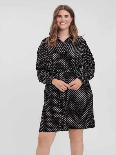 Vero Moda Curve Hemdkleid in schwarz, Modelansicht