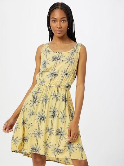 világos sárga / fekete / fehér ONLY Nyári ruhák 'NOVA', Modell nézet