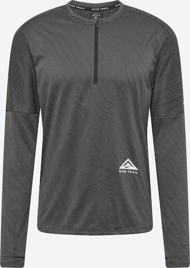 NIKE Функционална тениска в сиво / черно / бяло, Преглед на продукта
