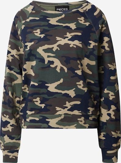 PIECES Sweatshirt 'BONNIE' in khaki / mischfarben, Produktansicht