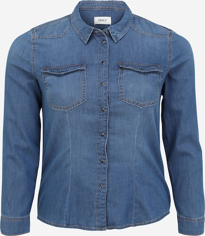 ONLY Bluse 'ROCKIT' i blue denim, Produktvisning