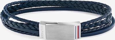 TOMMY HILFIGER Armband in dunkelblau / silber, Produktansicht