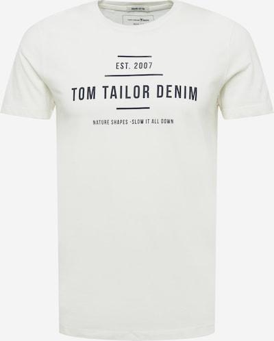 TOM TAILOR DENIM T-shirt i kräm / svart, Produktvy