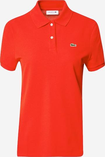 LACOSTE T-shirt en vert clair / rouge orangé / blanc, Vue avec produit