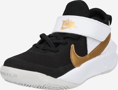 NIKE Basketballschuh 'Team Hustle' in gold / schwarz / weiß, Produktansicht