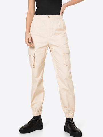 Missguided Klapptaskutega püksid, värv beež