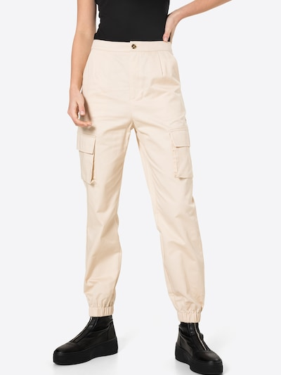Missguided Hose in creme, Modelansicht
