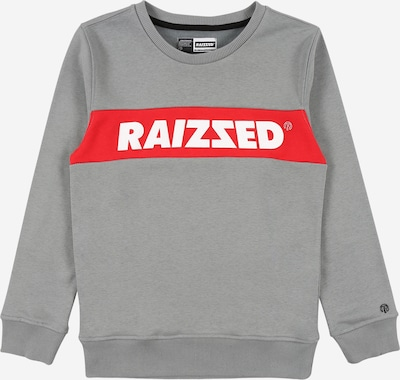 Raizzed Sweater majica 'Novato' u siva / crvena / bijela, Pregled proizvoda