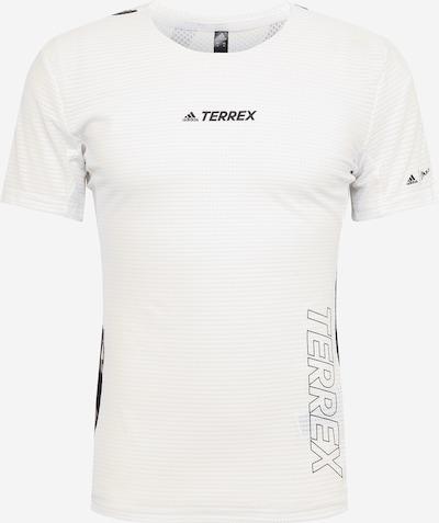 adidas Terrex Sportshirt 'Parley Agravic TR Pro' in gelb / schwarz / offwhite: Frontalansicht