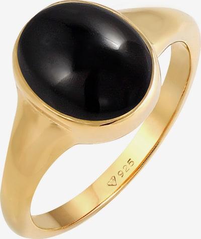 ELLI Δαχτυλίδι 'Edelstein Ring' σε χρυσό / μαύρο, Άποψη προϊόντος