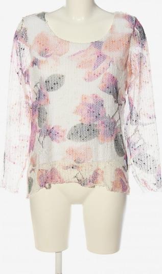 Yest Langarm-Bluse in S in hellgrau / lila / weiß, Produktansicht