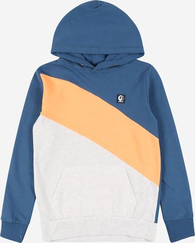 GARCIA Sweatshirt i himmelsblå / ljusorange / vitmelerad, Produktvy