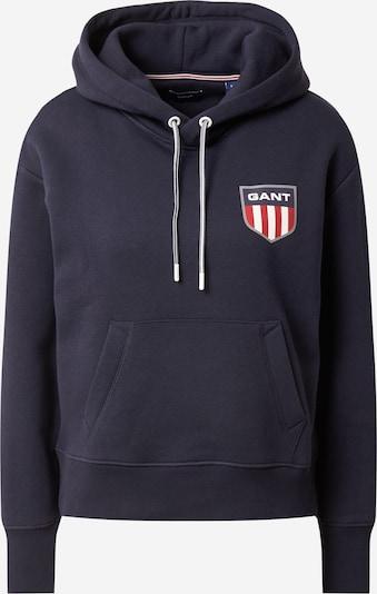GANT Sweatshirt in Night blue / Dark grey / Red / White, Item view