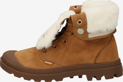 Palladium Boots en marron / blanc, Vue avec produit