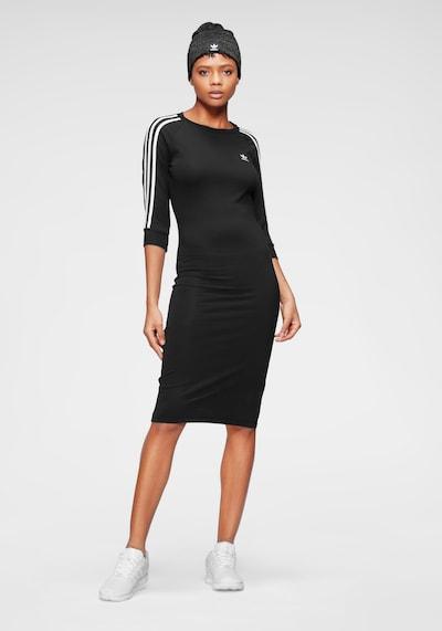 ADIDAS ORIGINALS Kleid 'Adicolor' in schwarz / weiß, Modelansicht