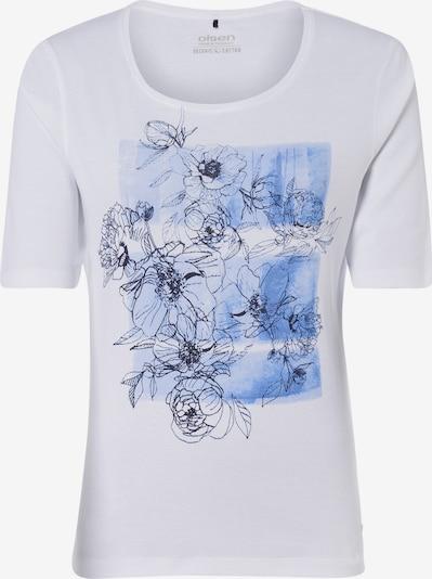 Olsen Shirt in hellblau / schwarz / weiß, Produktansicht