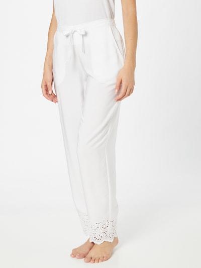 Cyberjammies Pyjamabroek 'Leah' in de kleur Wit: Vooraanzicht