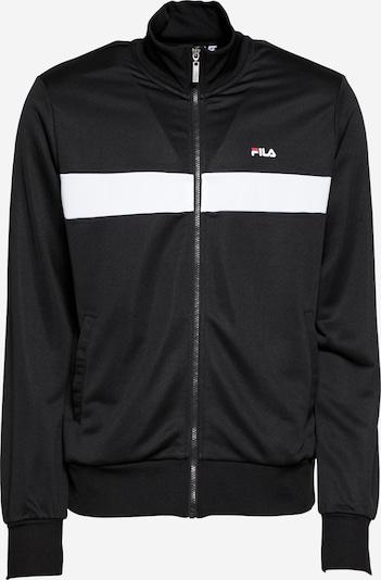 FILA Sweatjacke 'SANGA' in rot / schwarz / weiß, Produktansicht